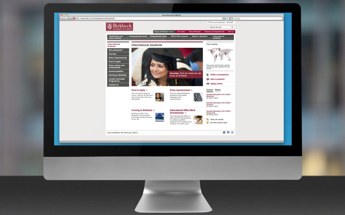 Birkbeck website