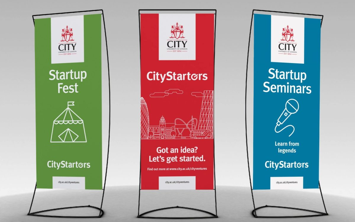Three nomadic posters for City Starters
