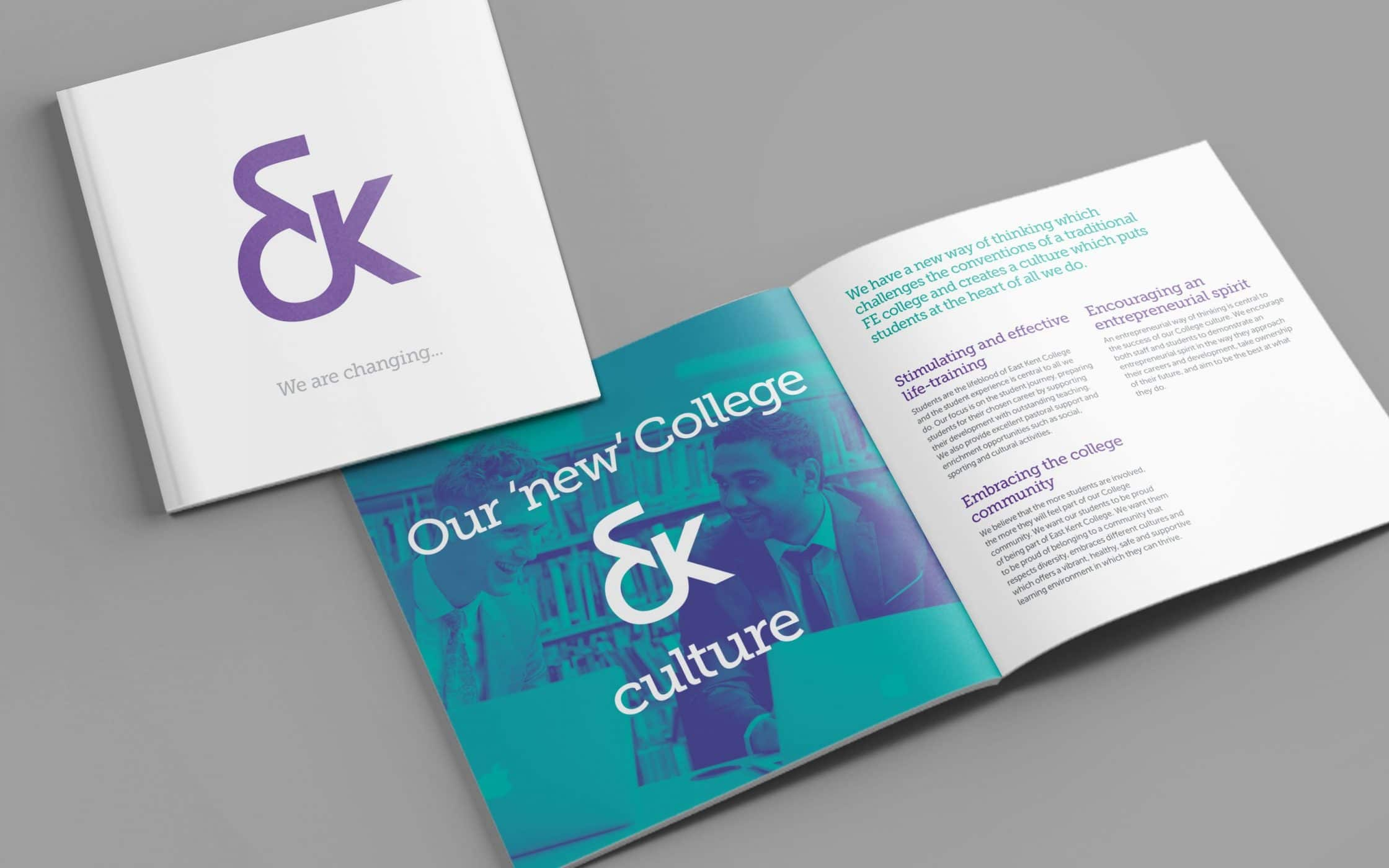 east kent college naming branding by fabrik brands london view larger gallery east kent college