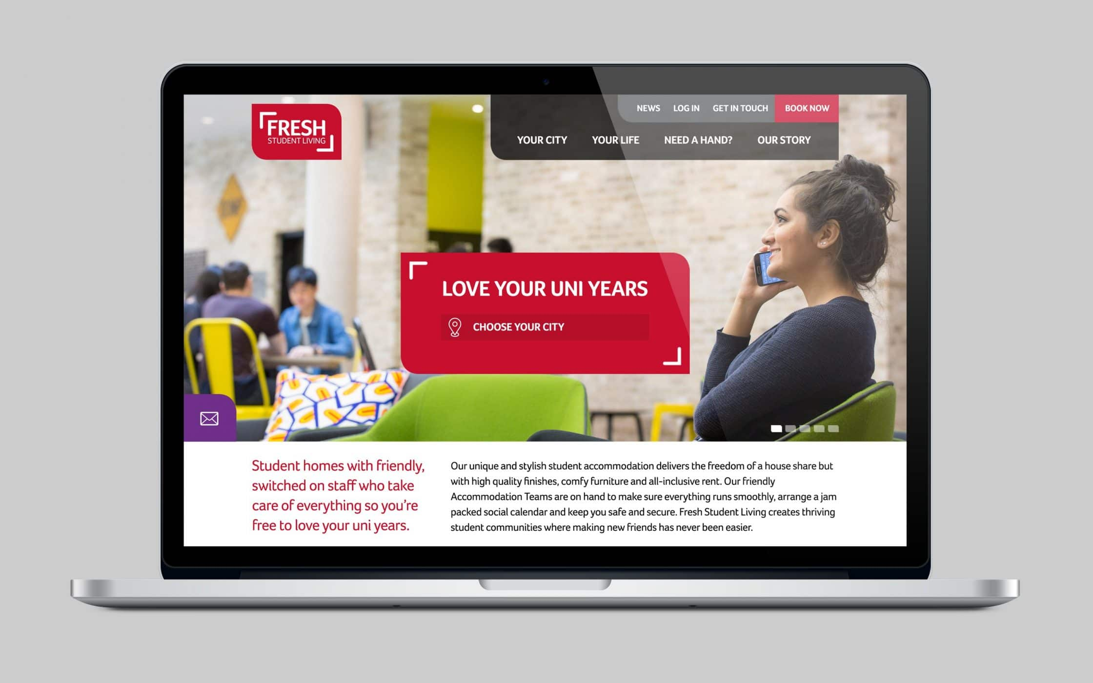 Fresh Student Living Website image 1