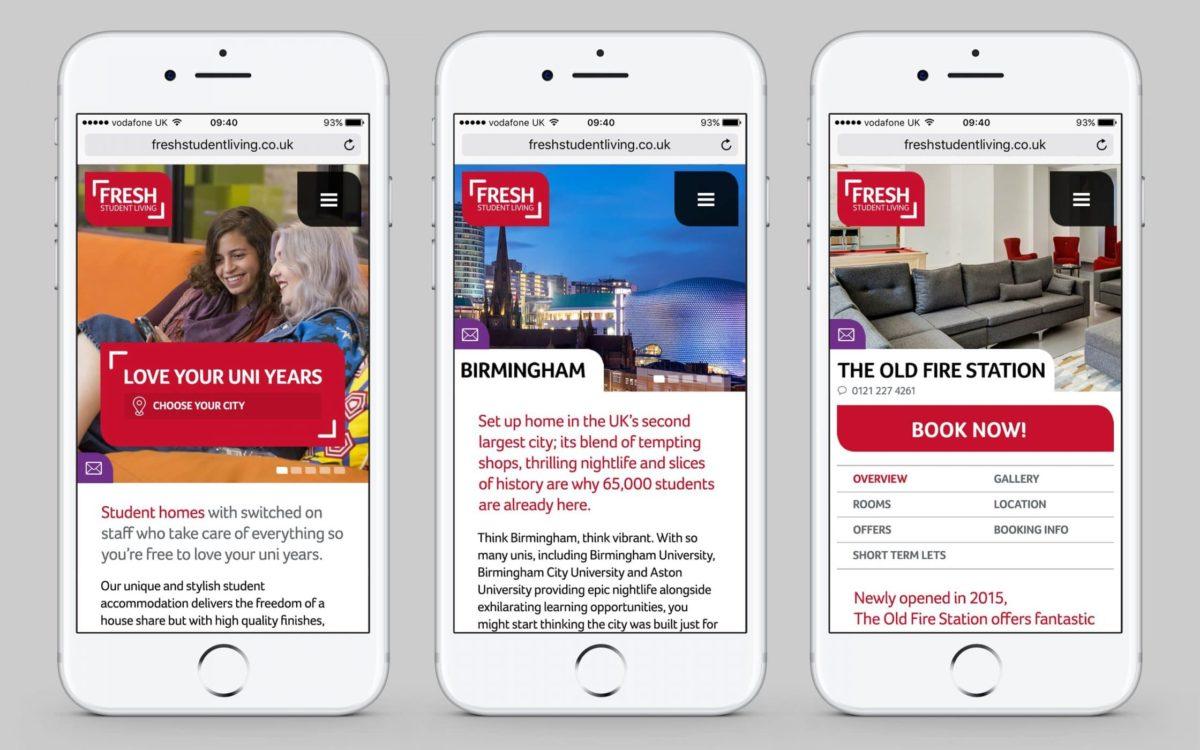 Fresh Student Living Website image 4