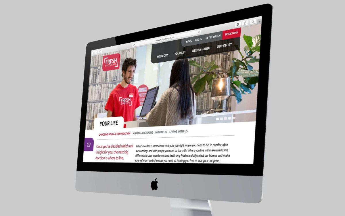 Fresh Student Living Website image 5
