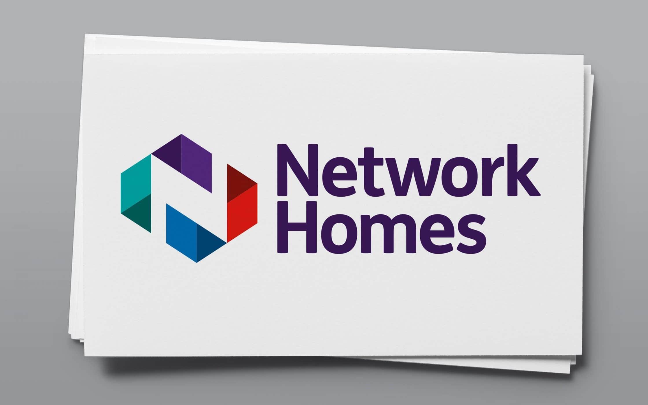 Network Homes branding on cards.