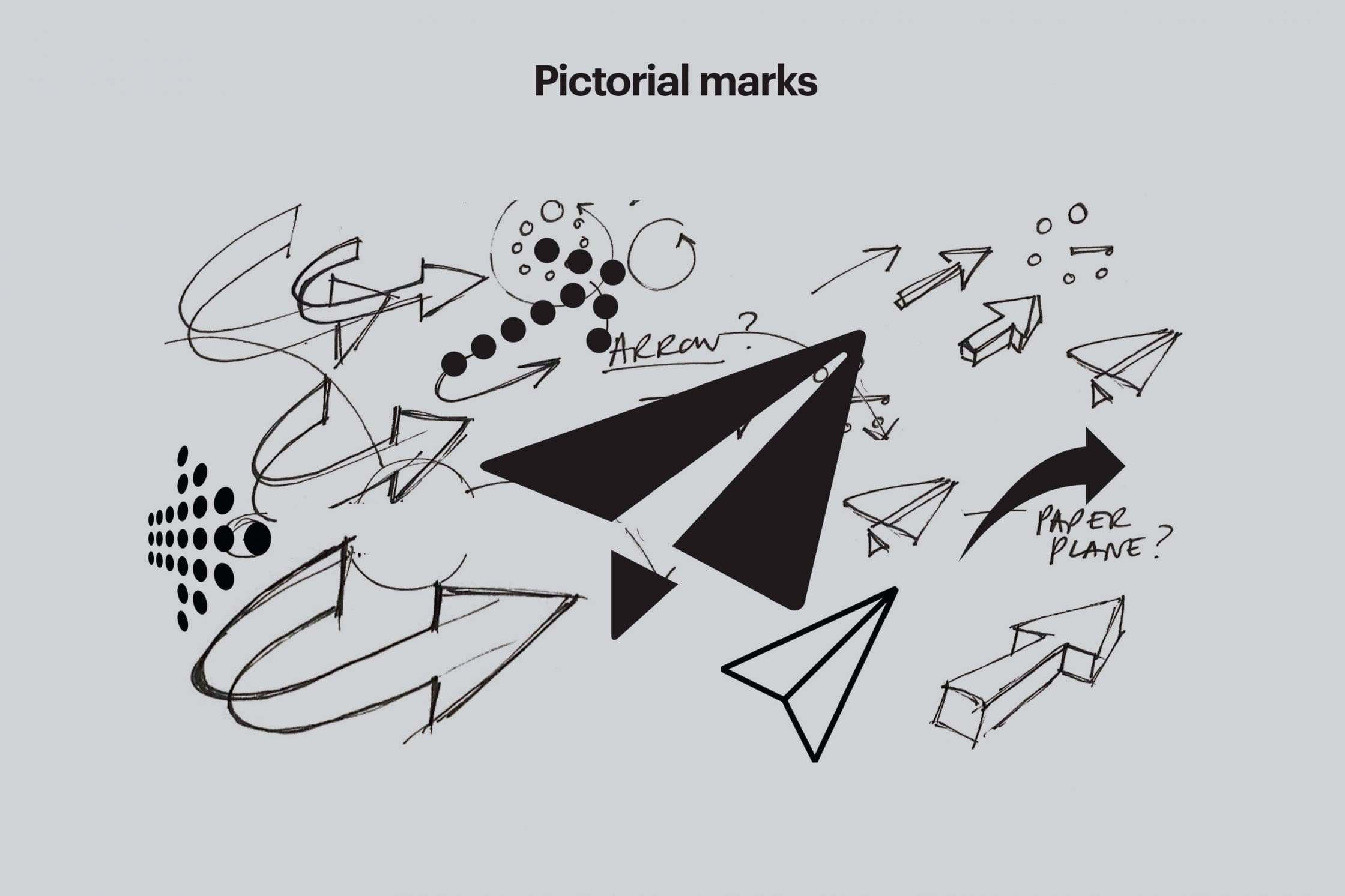 Try out different pictorial marks to find the preferred ones.
